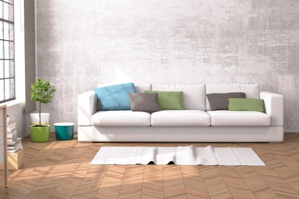 Sofa in einer Loft